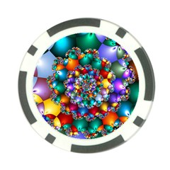 Rainbow Spiral Beads Poker Chip Card Guard (10 Pack)