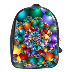 Rainbow Spiral Beads School Bags(large)
