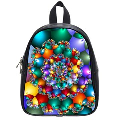 Rainbow Spiral Beads School Bags (small)  by WolfepawFractals