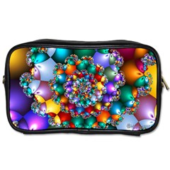 Rainbow Spiral Beads Toiletries Bags