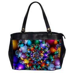 Rainbow Spiral Beads Office Handbags by WolfepawFractals