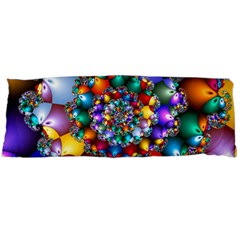 Rainbow Spiral Beads Body Pillow Case Dakimakura (two Sides) by WolfepawFractals
