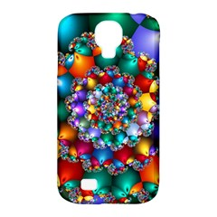 Rainbow Spiral Beads Samsung Galaxy S4 Classic Hardshell Case (pc+silicone)