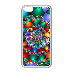 Rainbow Spiral Beads Apple Iphone 5c Seamless Case (white)