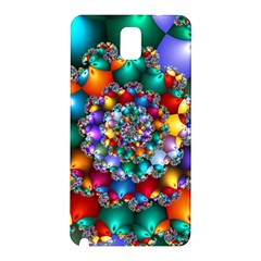 Rainbow Spiral Beads Samsung Galaxy Note 3 N9005 Hardshell Back Case by WolfepawFractals