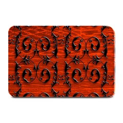 3d Metal Pattern On Wood Plate Mats by Amaryn4rt