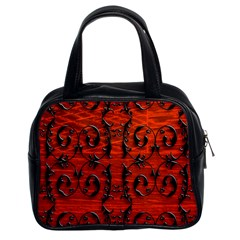 3d Metal Pattern On Wood Classic Handbags (2 Sides)