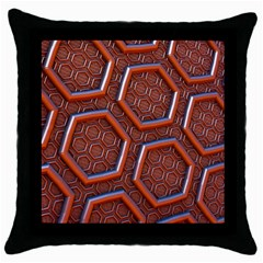 3d Abstract Patterns Hexagons Honeycomb Throw Pillow Case (black)
