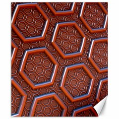 3d Abstract Patterns Hexagons Honeycomb Canvas 8  X 10  by Amaryn4rt
