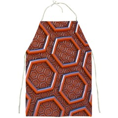 3d Abstract Patterns Hexagons Honeycomb Full Print Aprons by Amaryn4rt