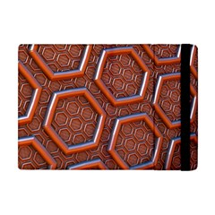 3d Abstract Patterns Hexagons Honeycomb Apple Ipad Mini Flip Case by Amaryn4rt