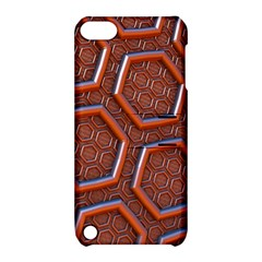 3d Abstract Patterns Hexagons Honeycomb Apple Ipod Touch 5 Hardshell Case With Stand by Amaryn4rt