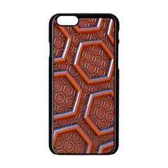 3d Abstract Patterns Hexagons Honeycomb Apple Iphone 6/6s Black Enamel Case by Amaryn4rt