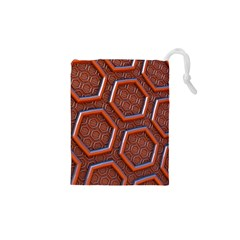 3d Abstract Patterns Hexagons Honeycomb Drawstring Pouches (xs)
