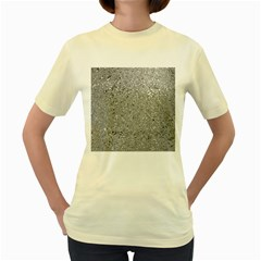 Abstract Flowing And Moving Liquid Metal Women s Yellow T Shirt by Amaryn4rt
