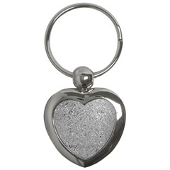 Abstract Flowing And Moving Liquid Metal Key Chains (heart)  by Amaryn4rt