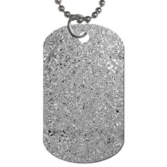Abstract Flowing And Moving Liquid Metal Dog Tag (two Sides) by Amaryn4rt
