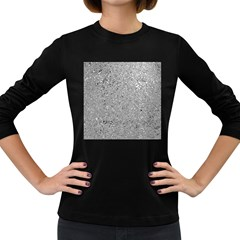 Abstract Flowing And Moving Liquid Metal Women s Long Sleeve Dark T Shirts by Amaryn4rt