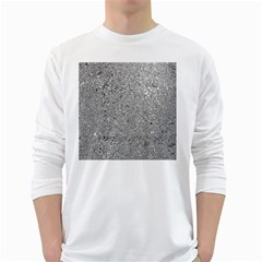 Abstract Flowing And Moving Liquid Metal White Long Sleeve T Shirts by Amaryn4rt