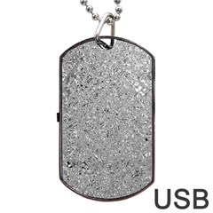 Abstract Flowing And Moving Liquid Metal Dog Tag Usb Flash (one Side) by Amaryn4rt