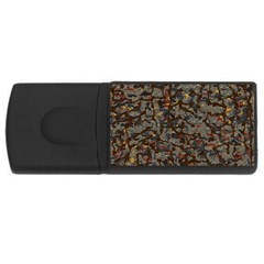 A Complex Maze Generated Pattern Usb Flash Drive Rectangular (4 Gb) by Amaryn4rt