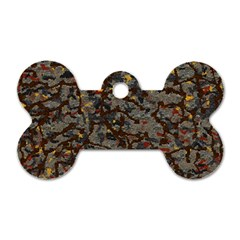 A Complex Maze Generated Pattern Dog Tag Bone (one Side) by Amaryn4rt