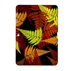 3d Red Abstract Fern Leaf Pattern Samsung Galaxy Tab 2 (10 1 ) P5100 Hardshell Case  by Amaryn4rt