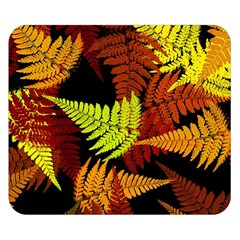 3d Red Abstract Fern Leaf Pattern Double Sided Flano Blanket (small)  by Amaryn4rt