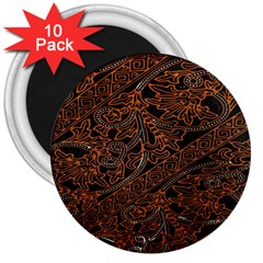 Art Traditional Indonesian Batik Pattern 3  Magnets (10 Pack)  by Amaryn4rt