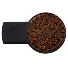 Art Traditional Indonesian Batik Pattern Usb Flash Drive Round (2 Gb) by Amaryn4rt