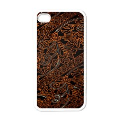 Art Traditional Indonesian Batik Pattern Apple Iphone 4 Case (white) by Amaryn4rt