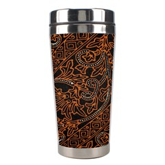 Art Traditional Indonesian Batik Pattern Stainless Steel Travel Tumblers by Amaryn4rt