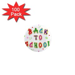 Back To School 1  Mini Magnets (100 Pack)  by Amaryn4rt