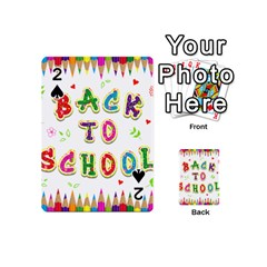 Back To School Playing Cards 54 (mini)  by Amaryn4rt