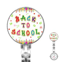 Back To School Stainless Steel Nurses Watch by Amaryn4rt
