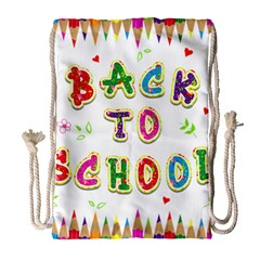 Back To School Drawstring Bag (large) by Amaryn4rt