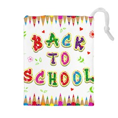 Back To School Drawstring Pouches (extra Large) by Amaryn4rt