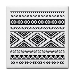 Aztec Pattern Face Towel by Amaryn4rt