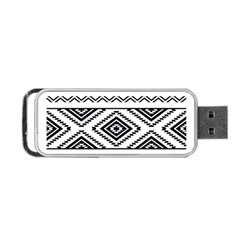 Aztec Pattern Portable Usb Flash (two Sides) by Amaryn4rt