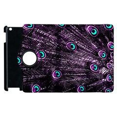 Bird Color Purple Passion Peacock Beautiful Apple Ipad 2 Flip 360 Case by Amaryn4rt