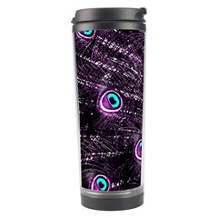 Bird Color Purple Passion Peacock Beautiful Travel Tumbler by Amaryn4rt