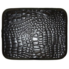 Black Alligator Leather Netbook Case (xxl)  by Amaryn4rt