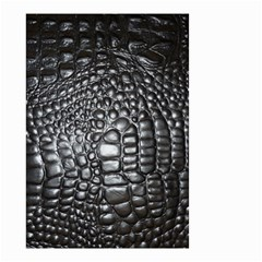 Black Alligator Leather Small Garden Flag (two Sides) by Amaryn4rt
