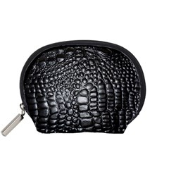 Black Alligator Leather Accessory Pouches (small)  by Amaryn4rt