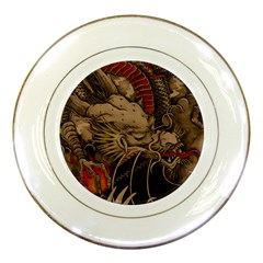 Chinese Dragon Porcelain Plates