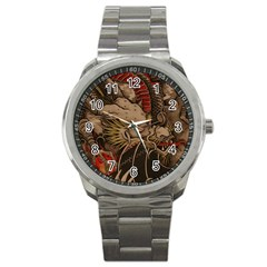 Chinese Dragon Sport Metal Watch by Amaryn4rt