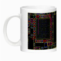 Technology Circuit Board Layout Pattern Night Luminous Mugs by Amaryn4rt