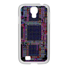 Technology Circuit Board Layout Pattern Samsung Galaxy S4 I9500/ I9505 Case (white)
