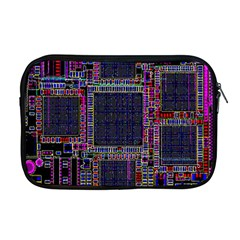 Technology Circuit Board Layout Pattern Apple Macbook Pro 17  Zipper Case by Amaryn4rt