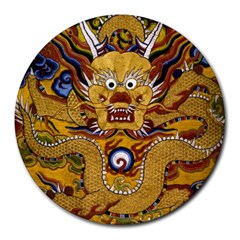 Chinese Dragon Pattern Round Mousepads by Amaryn4rt